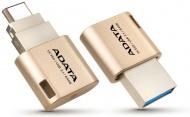 Flash USB ADATA UC350 64GB OTG USB-C/USB 3.1 - zlatý