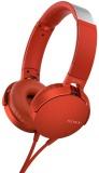 Sluchátka Sony MDR-XB550AP Extra Bass™ - červená