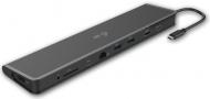 Dokovací stanice i-tec Flat, USB 3.0 / USB-C / HDMI / LAN / čtečka karet