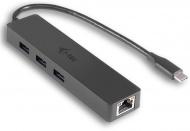 USB Hub i-tec USB-C / 3x USB 3.0 + LAN - černý