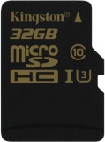 Paměťová karta Kingston MicroSDHC 32GB UHS-I U3 (90R/45W)