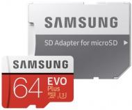 Paměťová karta Samsung Micro SDXC EVO+ 64GB UHS-I U3 (100R/60W) + adapter
