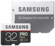 Paměťová karta Samsung Micro SDHC PRO+ 32GB UHS-I U3 (100R/90W) + adapter
