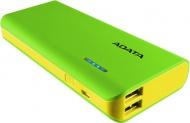 Powerbank ADATA PT100 10000mAh - žlutá/zelená