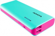Powerbank ADATA PT100 10000mAh - modrá/růžová