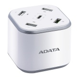 Nabíječka do sítě ADATA USB Charging Station, 4x USB, 1x USB-C - bílá
