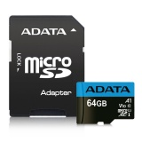 Paměťová karta ADATA Premier Micro SDXC 64GB UHS-I Class 10 + SD adaptér