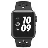 Chytré hodinky Apple Watch Nike+ Series 3 GPS 38mm pouzdro z vesmírně šedého hliníku - antracitový/černý sportovní řemínek Nike