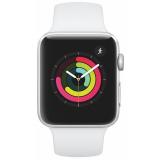 Chytré hodinky Apple Watch Series 3 GPS 42mm pouzdro ze stříbrného hliníku - bílý sportovní řemínek