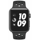 Chytré hodinky Apple Watch Nike+ Series 3 GPS 42mm pouzdro z vesmírně šedého hliníku - antracitový/černý sportovní řemínek Nike