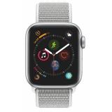 Chytré hodinky Apple Watch Series 4 GPS 40mm pouzdro ze stříbrného hliníku - mušlově bílý provlékací sportovní řemínek CZ verze