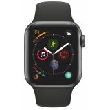 Chytré hodinky Apple Watch Series 4 GPS 40mm pouzdro z vesmírně šedého hliníku - černý sportovní řemínek CZ verze