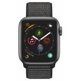 Chytré hodinky Apple Watch Series 4 GPS 40mm pouzdro z vesmírně šedého hliníku - černý provlékací sportovní řemínek CZ verze