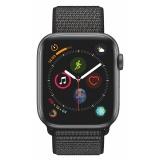 Chytré hodinky Apple Watch Series 4 GPS 44mm pouzdro z vesmírně šedého hliníku - černý provlékací sportovní řemínek CZ verze