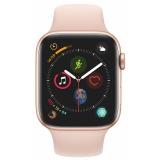 Chytré hodinky Apple Watch Series 4 GPS 44mm pouzdro ze zlatého hliníku - pískově růžový sportovní řemínek CZ verze