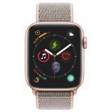 Chytré hodinky Apple Watch Series 4 GPS 44mm pouzdro ze zlatého hliníku - pískově růžový provlékací sportovní řemínek CZ verze