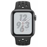 Chytré hodinky Apple Watch Nike+ Series 4 GPS 40mm pouzdro z vesmírně šedého hliníku - antracitový/černý sportovní řemínek Nike