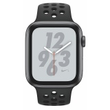 Chytré hodinky Apple Watch Nike+ Series 4 GPS 44mm pouzdro z vesmírně šedého hliníku - antracitový/černý sportovní řemínek Nike