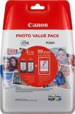 Inkoustová náplň Canon PG-545XL/CL-546XL, 400/300 stran, Photo Value Pack, CMYK, originální