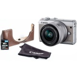 CSC fotoaparát Canon EOS M100 + M 15-45 IS STM + VUK, šedý