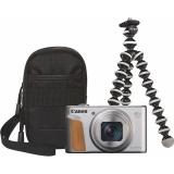 Fotoaparát Canon PowerShot SX740 HS, TRAVEL KIT, stříbrný