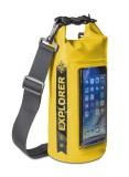 """Celly Voděodolný vak Explorer 2L s kapsou na telefon do 6,2"""" - žlutý"""