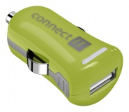 Adaptér do auta Connect IT InCarz COLORZ, 1x USB, 2,1A (V2) - zelený