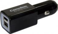 Adaptér do auta Camelion CL Car Charger DD801, USB, 2 000 mAh - černý