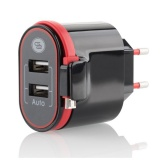 Nabíječka do sítě GoGEN ACH202C, 2xUSB, 2,4A, integrovaný Micro USB kabel