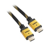 Kabel GoGEN HDMI 1.4, 3m, pozlacený, opletený, High speed, s ethernetem