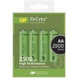 Baterie nabíjecí GP ReCyko+ AA, HR6, 2500mAh, Ni-MH, krabička 4ks