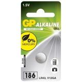 Baterie alkalická GP LR43, 186, blistr 1ks