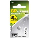 Baterie alkalická GP LR41, 192, blistr 1ks
