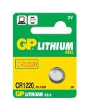 Baterie lithiová GP CR1220, blistr 5ks