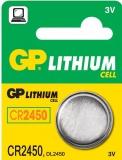 Baterie lithiová GP CR2450, blistr 5ks