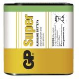 Baterie alkalická GP Super 4,5V, 312A, fólie 1ks