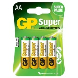 Baterie alkalická GP Super AA, LR06, blistr 4ks
