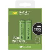 Baterie nabíjecí GP ReCyko+ AA, HR06, 1300mAh, Ni-MH, krabička 2ks