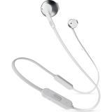 Sluchátka JBL T205BT - stříbrná/bílá