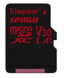 Paměťová karta Kingston Canvas React microSDXC 128GB UHS-I U3 (100R/80W)