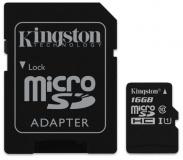 Paměťová karta Kingston Canvas Select MicroSDHC 16GB UHS-I U1 (80R/10W) + adapter