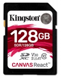 Paměťová karta Kingston Canvas React SDXC 128GB UHS-I U3 (100R/80W)