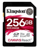 Paměťová karta Kingston Canvas React SDXC 256GB UHS-I U3 (100R/80W)