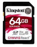 Paměťová karta Kingston Canvas React SDXC 64GB UHS-I U3 (100R/80W)