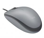 Myš Logitech M110 Silent / optická / 3 tlačítka / 1000dpi - šedá