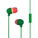 Sluchátka Marley Little Bird - Rasta - červená/zelená