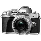 CSC fotoaparát Olympus E-M10 Mark III + 14-42, stříbrný/stříbrný