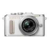 CSC fotoaparát Olympus E-PL8 + ED 14-42 EZ Pancake, bílý/stříbrný