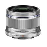 Objektiv Olympus ES-M2518, stříbrný