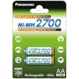 Baterie nabíjecí Panasonic AA, HR06, 2700mAh, Ni-MH, blistr 2ks